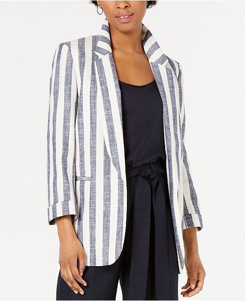 Bar III Striped Jacket, Created for Macy's
