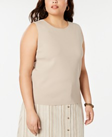 Bar III Plus Size Scoop-Neck Sweater, Created for Macy's