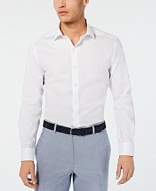 Men's Slim-Fit Performance Stretch Tonal Houndstooth Dress Shirt, Created for Macy's