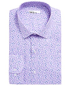 Men's Slim-Fit Stretch Easy-Care Watercolor Floral Dress Shirt, Created for Macy's