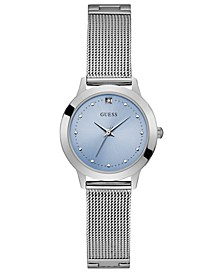 Women's Diamond-Accent Stainless Steel Mesh Bracelet Watch 30mm