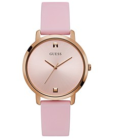 Women's Diamond-Accent Pink Silicone Strap Watch 40mm