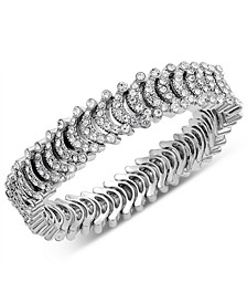 I.N.C Silver-Tone Crystal Stretch Bracelet, Created for Macy's