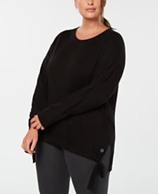 Calvin Klein Performance Plus Size Side-Tie Top