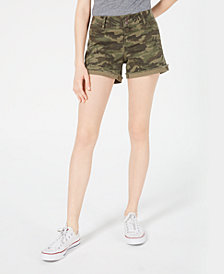 Vanilla Star Juniors' Distressed Denim Shorts