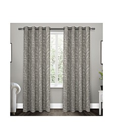 Kilberry Woven Blackout Grommet Top Curtain Panel Pair