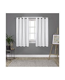 London Textured Woven Blackout Grommet Top Curtain Panel Pair