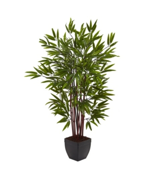 Nearly Natural 4' Bamboo Silk Tree w/ Planter