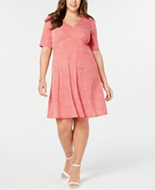 MICHAEL Michael Kors Plus Size V-Neck Mosaic Dress