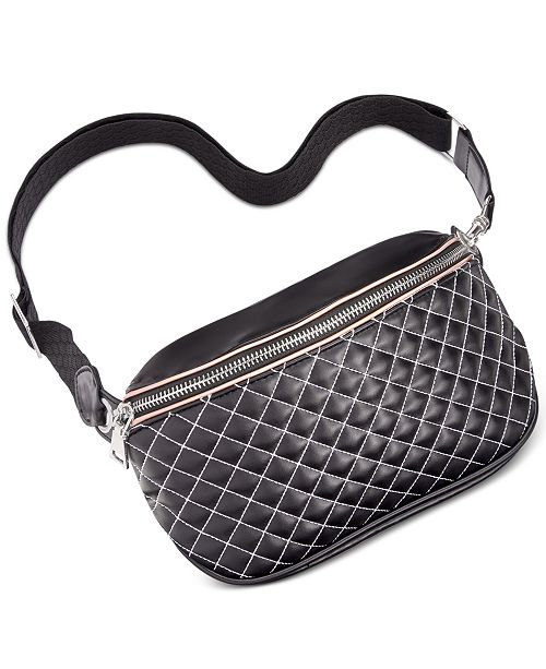INC International Concepts I.N.C. Contrast-Stitch Fanny Pack, Created for Macy's