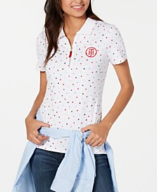 Tommy Hilfiger Printed Zip Polo, Created for Macy's
