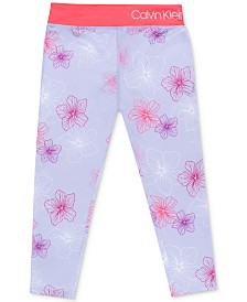 Calvin Klein Performance Big Girls Floral-Print Capri Leggings
