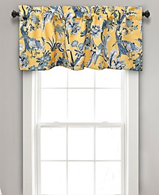 "Dolores 52"" x 18"" Botanical Print Window Valance"