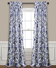 Cynthia Jacobean Floral Curtain Collection