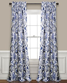 Cynthia Jacobean Room Darkening Window Curtain Sets