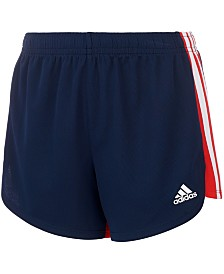 adidas Toddler Girls Three-Stripe Colorblocked Shorts