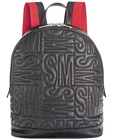 Steve Madden Gale Pebble Logo Quilt Backpack