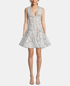 Betsy & Adam Lace Fit & Flare Dress