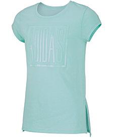 adidas Big Girls Logo-Print Vented-Hem T-Shirt
