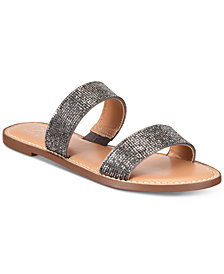 Material Girl Ginnie Flat Sandals, Created for Macy's