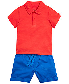 First Impressions Baby Boys Tank Top, Polo Shirt & Shorts, Created for Macy's