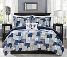 Utopia 8 Piece Queen Bed In a Bag Duvet Set