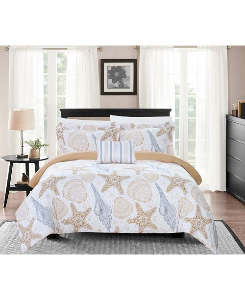 Chic Home Azure 6 Piece Twin Bed In a Bag Duvet Set