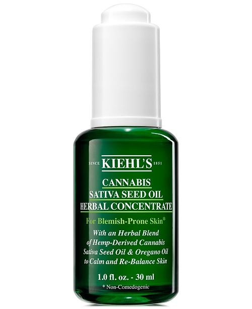 Kiehl's Since 1851 Cannabis Sativa Seed Oil Herbal Concentrate, 1-oz.