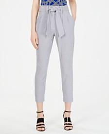 Calvin Klein Printed Tie-Waist Pants