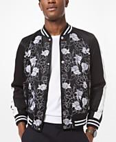 7f9bd1a796a Michael Kors Men s Slim-Fit Floral Embroidered Bomber Jacket
