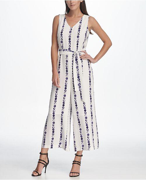 9faf2f28deb6 DKNY Sleeveless Tie Waist Jumpsuit  DKNY Sleeveless Tie Waist Jumpsuit ...