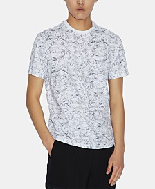 A|X Armani Exchange Men's Crowded Sea Graphic Print T-Shirt