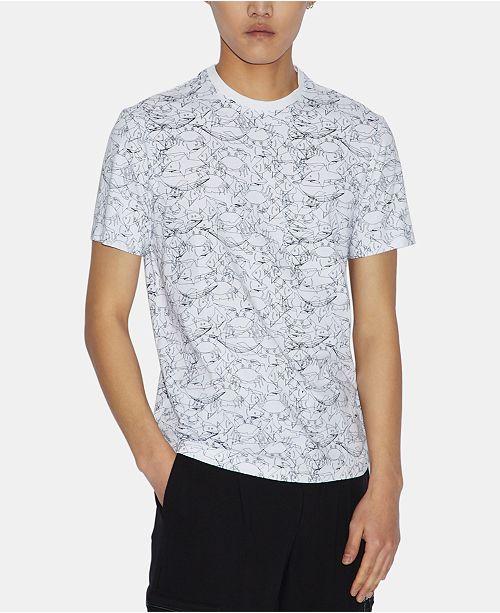 A X Armani Exchange Men's Crowded Sea Graphic Print T-Shirt