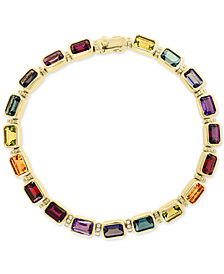 EFFY® Multi-Gemstone (12-5/8 ct. t.w.) & Diamond Accent Bracelet in 14k Gold