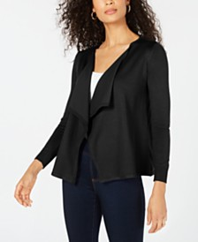 Thalia Sodi Lace-Up Drape-Front Cardigan, Created for Macy's