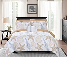 Chic Home Aquatic 6 Piece Twin Bed In a Bag Comforter Set