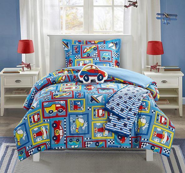 Chic Home Race Car 4 Piece Twin Comforter Set