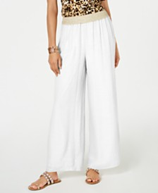 Thalia Sodi Wide-Leg Pull-On Pants, Created for Macy's