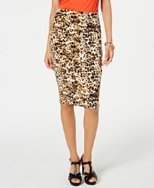 Thalia Sodi Printed Pencil Scuba Skirt, Created for Macy's