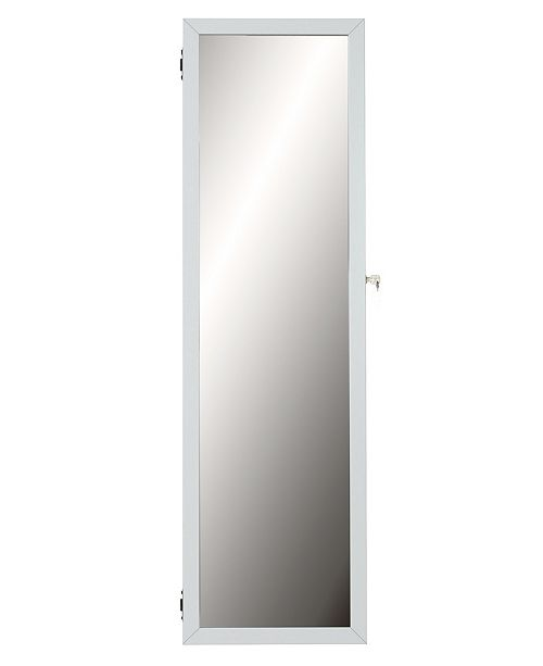 Mirrotek Natalie Over The Door Wall Mounted Makeup and Cosmetic Armoire with Mirror