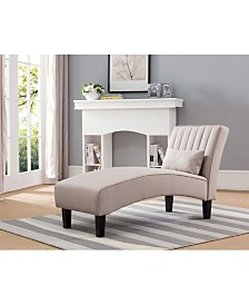 Newport Channel Tufted Chaise Lounge