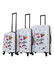 Nikki Chalinau Whalinaatever 3-Pc. Hardside Spinner Luggage Set
