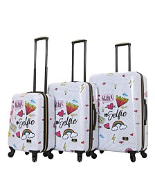 Halina Nikki Chalinau Whalinaatever 3 Piece Hard Side Spinner Luggage Set
