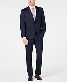 Club Room Men's Classic-Fit Stretch Navy Stripe Suit, Created for Macy's