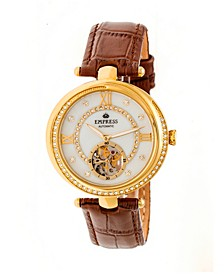 Stella Automatic Brown Leather Watch 39mm