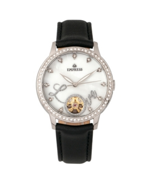 Quinn Automatic Black Leather Watch 41mm