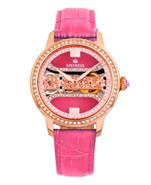 Rania Mechanical Pink Leather Watch 38mm