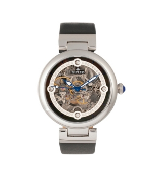 Adelaide Automatic Black Leather Watch 38mm