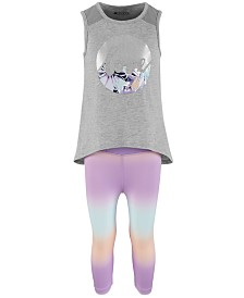 Ideology Little Girls Love Graphic Tank Top & Ombré Leggings Separates, Created for Macy's