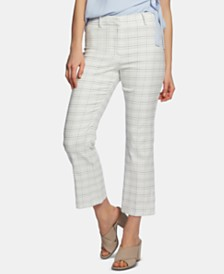 1.STATE Windowpane-Check Ankle Pants